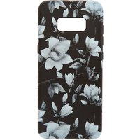 Claire's Black & White Floral Phone Case - Fits Samsung Galaxy S8 - Floral Gifts