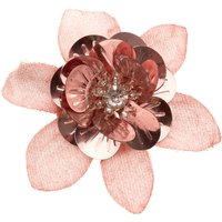 Claire's Glitter Sequin Mini Hair Flower Clip - Rose Gold - Glitter Gifts