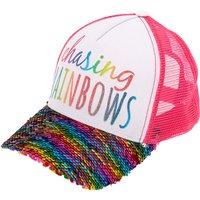 Claire's Chasing Rainbows Reversible Sequin Baseball Cap - Pink - Baseball Gifts