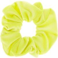 Claire's Medium Velvet Hair Scrunchie - Neon Yellow - Neon Gifts