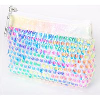 Claire's Rainbow Iridescent Sequin Zip Coin Purse - Purse Gifts