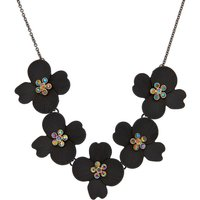 Claire's Hematite Floral Statement Necklace - Floral Gifts