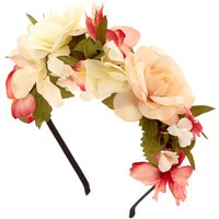 Claire's Ivory & Pink Flowers All Over Headband - Ivory Gifts