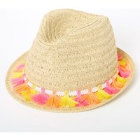 Claire's Neon Tassels Fedora Hat - Hat Gifts