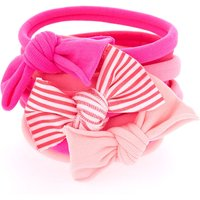 Claire's Girly Pink Bow Hair Ties - 8 Pack - Girly Gifts