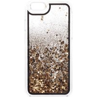 Claire's Black & Gold Floating Stars Liquid Fill Phone Case - Phone Case Gifts