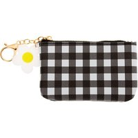 Claire's Gingham Daisy Coin Purse - Black - Purse Gifts