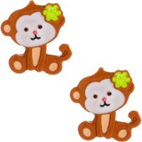 Claire's Monkey Business Stud Earrings - Brown - Business Gifts
