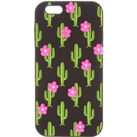 Claire's Cactus With Pink Flowers Phone Case - Flowers Gifts