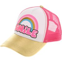 Claire's Pink & Gold Smile Baseball Cap - Baseball Gifts