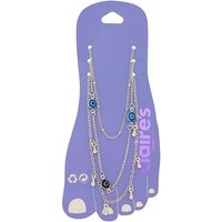 Claire's Silver Evil Eye Anklets - Turquoise, 3 Pack - Turquoise Gifts