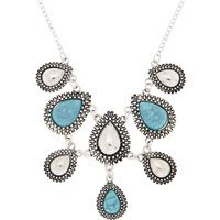 Claire's Antique Silver Teardrop Statement Necklace - Turquoise - Turquoise Gifts