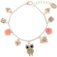 Claire's Silver Owl Charm Bracelet - Charm Bracelet Gifts