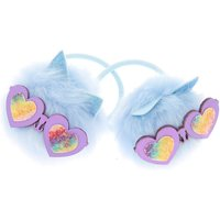 Claire's Cam The Cat Pom Hair Ties - Baby Blue, 2 Pack - Ties Gifts
