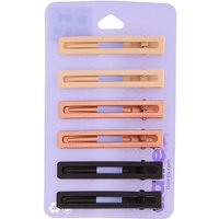 Claire's Rectangle Matte Neutral Hair Clips - 6 Pack - Hair Gifts