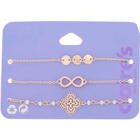Claire's Rose Gold Filigree Chain Bracelets - 3 Pack - Charm Bracelet Gifts