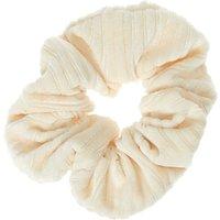 Claire's Ribbed Velvet Hair Scrunchie - Ivory Bracelet - Ivory Gifts