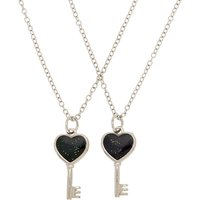 Claire's Best Friends Mood Heart Key Pendant Necklaces - 2 Pack - Necklaces Gifts