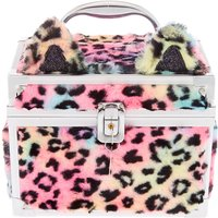 Claire's Faux Fur Rainbow Leopard Lock Box - Rainbow Gifts