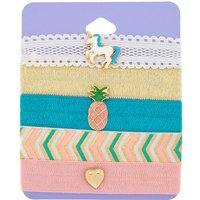 Claire's Summer Unicorn Ribbon Stretch Bracelets - 5 Pack - Summer Gifts