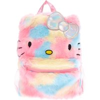 Claire's Hello Kitty Furry Pastel Rainbow Holographic Backpack - Hello Kitty Gifts