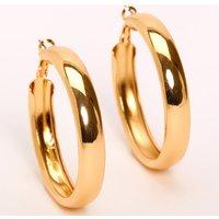 Claire's Gold 50MM Tube Hoop Earrings - Earrings Gifts
