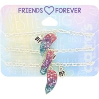 Claire's Cosmic Glitter Heart Friendship Bracelets - 3 Pack - Friendship Gifts