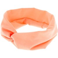 Claire's Wide Jersey Headwrap - Coral - Coral Gifts