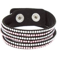 Claire's Studded Layered Wrap Bracelet - Pink - Fashion Gifts
