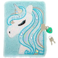 Claire's Miss Glitter The Unicorn Soft Lock Notebook - Mint - Mint Gifts
