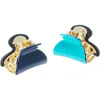 Claire's Mini Meramid Hair Claws - Turquoise, 2 Pack - Turquoise Gifts