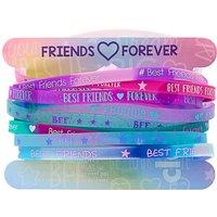 Claire's Rubber Friendship Bracelets - Purple, 12 Pack - Friendship Gifts