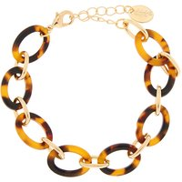 Claire's Gold Tortoiseshell Chain Statement Bracelet - Brown - Brown Gifts