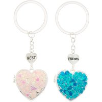 Claire's Best Friends Open Heart Locket Keyrings - 2 Pack - Keyrings Gifts