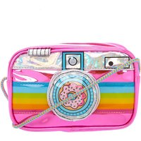 Claire's Neon Rainbow Camera Crossbody Bag - Electronics Gifts