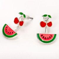 Claire's Cherry Watermelon Ear Jacket Earrings - Jewellery Gifts