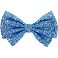 Claire's Soft Glitter Hair Bow Clip - Periwinkle Blue - Glitter Gifts