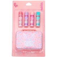 Claire's Club Claire The Bunny Lip Balm Set & Tin Box - 4 Pack - Lip Balm Gifts