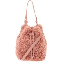 Claire's Sherpa Bucket Crossbody Bag - Pink - Bag Gifts