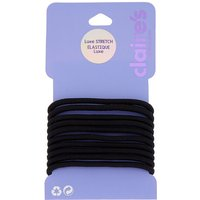 Claire's Luxe Hair Ties - Black, 10 Pack - Ties Gifts