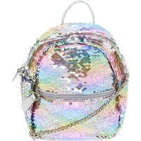 Claire's Reversible Sequin Mini Backpack Crossbody Bag - Rainbow - Backpack Gifts