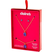 Claire's September Birthstone Jewelry Gift Set - Sapphire, 3 Pack - Birthstone Gifts