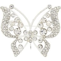 Claire's Silver Glass Rhinestone Butterfly Brooch - Glass Gifts