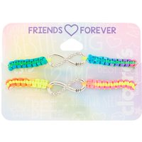 Claire's Neon Rainbow Infinity Adustable Friendship Bracelets - 2 Pack - Friendship Gifts