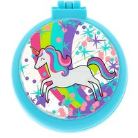 Claire's Miss Glitter The Unicorn Pop Up Hair Brush - Turquoise - Turquoise Gifts
