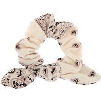 Claire's Small Bandana Knotted Bow Hair Scrunchie - White Bracelet - Hair Gifts