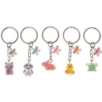 Claire's Bff 5 Pack Pastel Animal Keyrings - Keyrings Gifts
