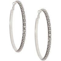Claire's Silver 80MM Mesh Hoop Earrings - Earrings Gifts