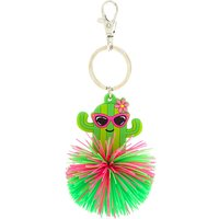 Claire's Chloe The Cactus Silicone Pom Keyring - Keyring Gifts