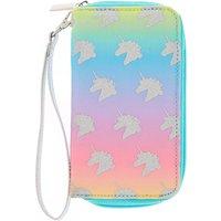 Claire's Rainbow Unicorn Wristlet - Turquoise - Turquoise Gifts